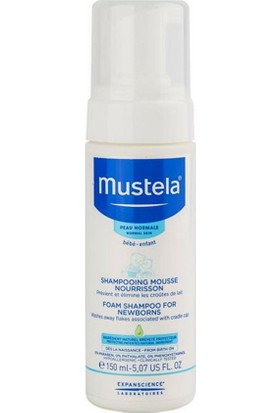 Mustela Foam Shampoo For Newborns - Yenidoğan Köpük Şampuanı 150Ml