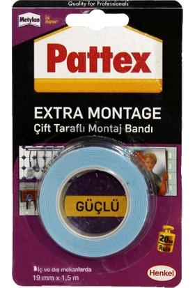 Pattex Extra Montage Çift Taraflı Montaj Bandı 1,5Mx19Mm