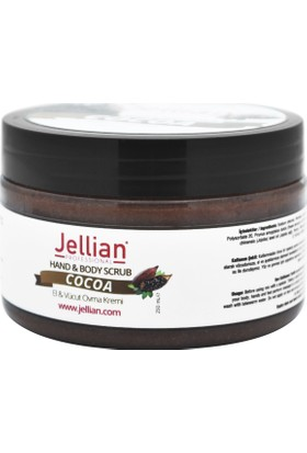 Jellian El ve Vücut Ovma Kremi (Peeling) Kakao Özlü