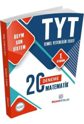 Puan Yayınları Yks Tyt Matematik 20 Deneme 1. Oturum