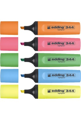 Edding Fosforlu Kalem 5 Li Pşt Karışık