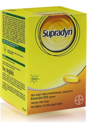 Supradyn Multivitamin Mineral Ve Koenzim Q10 30 Tablet