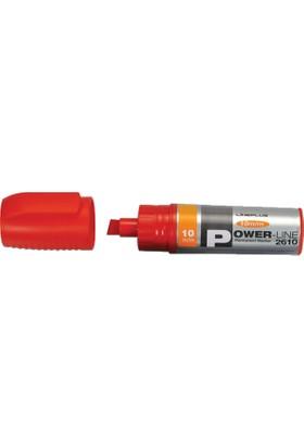 Lineplus Markör Kesik Uç Kırmızı 10Mm 2610