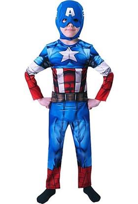 Sunman Kaptan Amerika Avengers Kostüm 3 - 4 Yaş