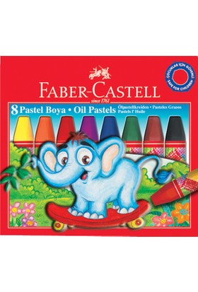 Faber Pastel Boya 8 Renk Redline Karton Kutu