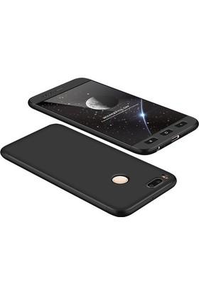 Case 4U Xiaomi Mi 5X 360 Full Korumalı Kapak Siyah