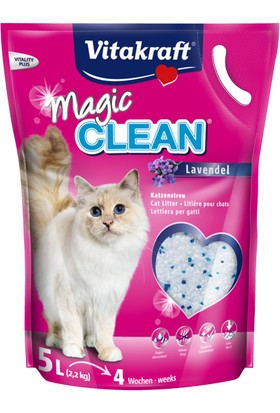 Vitakraft Magic Clean Lavanta Kokulu Silika Kedi Kumu 5 Lt (2,2Kg)