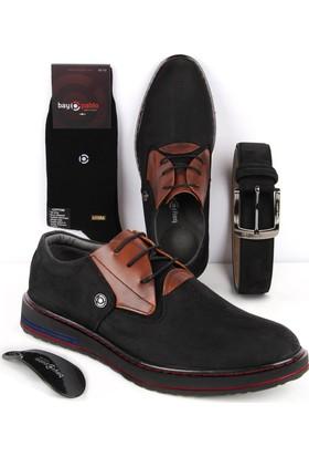 Bay Pablo F40-01 Erkek Ayakkabı Kemer Çorap 3'lü Set