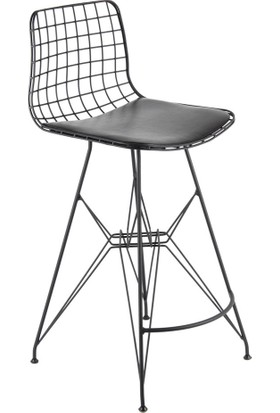 SZN Wood Bar Sandalyesi Tel Ayak Hepa