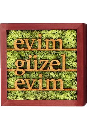 Terra Evim Güzel Evim Line 20x20cm Yosun Tablo