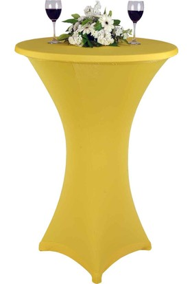 MakeupDeco Strech Bistro Masa Örtüleri Sarı