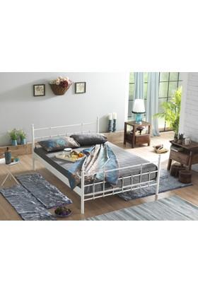 Unimet Lalas Çift Kişilik Metal Karyola 160x200 (Beyaz)