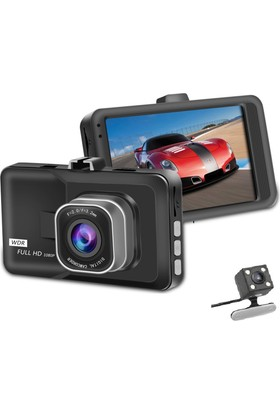 Solaner Sl112 Fullhd 1080 Çift Kamera Araç İçi Güvenlik Kamerası