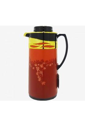 Penguen 1200CM Soğuk Sıcak Su ve Çay Termosu Kırmızı-Altın