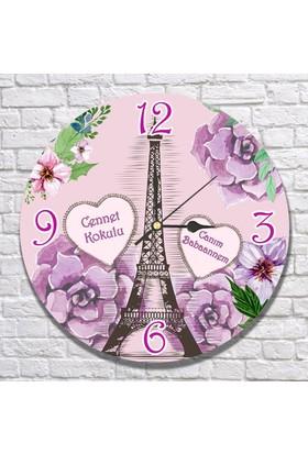 7/24 Hediye Anneye Hediye Paris Temalı Duvar Saati