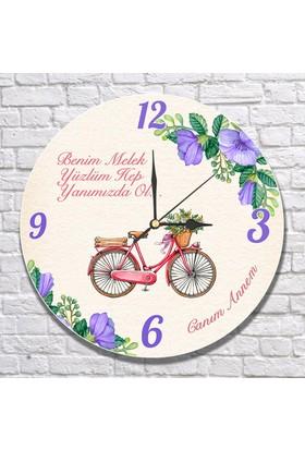 7/24 Hediye Anneye Hediye Bisiklet Temalı Duvar Saati