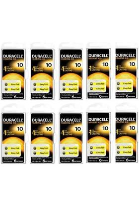 Duracell 10 Numara İşitme Cihazı Pili 6x10(60 Adet)