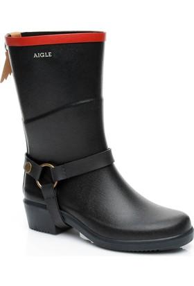 Aigle Miss Julie Kadın Siyah Yağmur Botu 841224