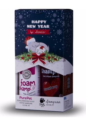 Pure Pet Durulanmayan Köpük Şampuan 225 Ml + Pet Love Şampuan 250 Ml Özel Set