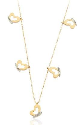 Altınbaş Altın Kelebekler Kolye Kl3915-00-6634