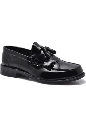 Corcuk Siyah Kolej Rugan Ayakkabı