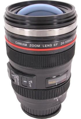 Mnk Canon Objektif Görünümlü Vakumlu Kupa/Bardak (350 Ml)