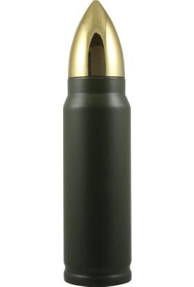Mnk Mermi Tasarımlı Paslanmaz Çelik Termos (500 Ml)