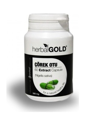 Herbal Gold Çörek Otu Ekstrakt 60 Kapsül