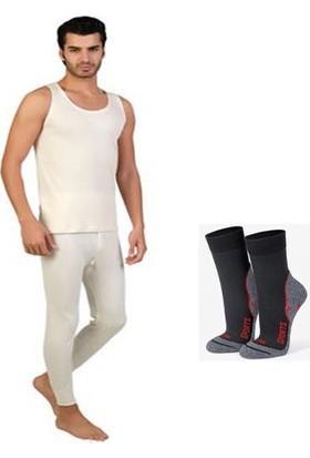 Hepsidahice Erkek Yün Alt İçlik ve Atlet Takım - Gabriel Najdorf Trekking Termal Çorap