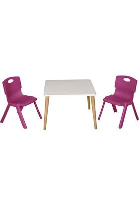 LilaBaby Çocuk Oyun masa seti 2 Sandalye 1 Masa