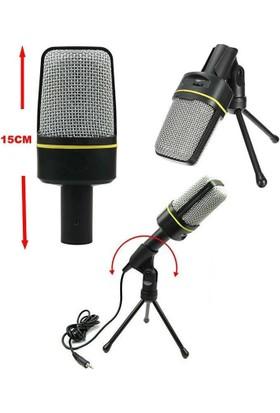Playaks Güçlü Performanslı Saywin M-920 Mikrofon Multimedya Stüdyo PC için Mikrofon Tripodlu 3.5mm