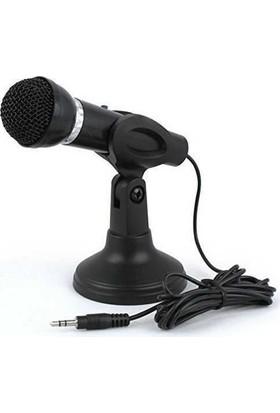Playaks Taşınabilir Ovleng M-800 Mikrofon Masaüstü Ayaklı PC için Mikrofon 3.5mm