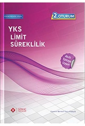 Sonuç YKS 2.Oturum Limit Süreklilik