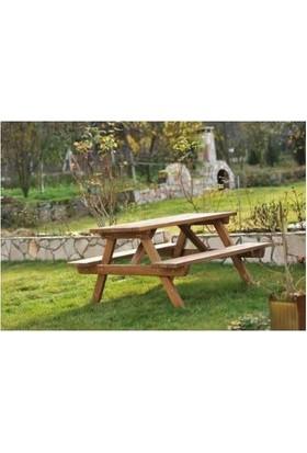 Tekzen Piknik Masası 8 Kişilik Renk Kahverengi