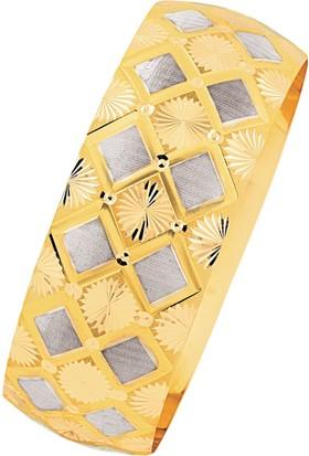 Bilezikhane 14 Ayar Altın Gösterişli Mega Bilezik 25 Gram
