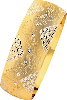 Bilezikhane 14 Ayar Altın İşlemeli Mega Bilezik 25 Gram