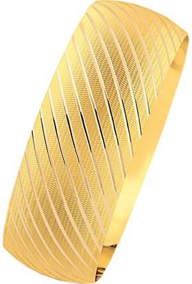 Bilezikhane 14 Ayar Altın Mega Bilezik 25.00 Gram Emel Model