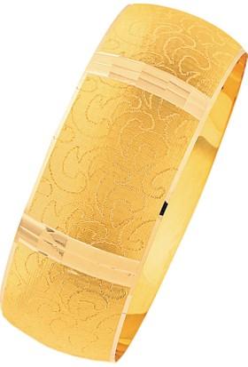 Bilezikhane 14 Ayar Altın Mega Bilezik 25.00 Gram Kemer Model