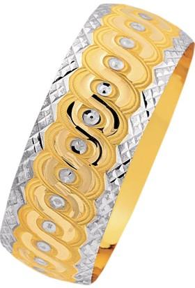 Bilezikhane 14 Ayar Altın Mega Bilezik 25.00 Gram Salyangoz Model