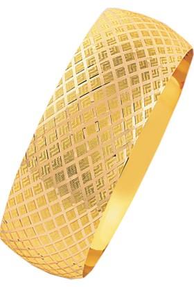 Bilezikhane 14 Ayar Altın Mega Bilezik Baklava Model