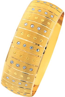 Bilezikhane 14 Ayar Altın Noktalı Mega Bilezik 25 Gram