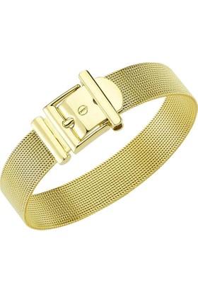Bilezikhane Altın Bileklik Kemer Tokalı Fantezi 22 Gram 14 Ayar Altın