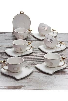 Mukko Home Porselen Kahve Fincan Takımı / 6 Kişilik