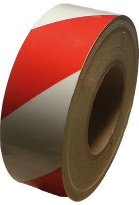 Reflektif Bant (Kırmızı-Beyaz) (5 Cm X 46 Mt)