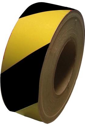 Reflektif Bant (Sarı-Siyah) (5 Cm X 46 Mt)