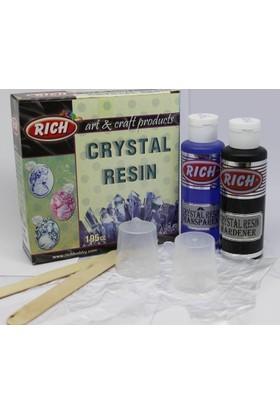 Rich Crystal Resin Transparan Mavi Kristal Reçine 195 cc. Set
