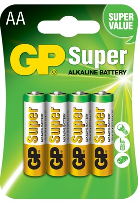 GP Super Alkalin 4'lü AA Boy Kalem Pil (GP15AMTP-2U4)
