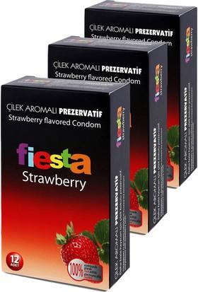 Fiesta Strawberry Prezervatif 36 Adet Condom