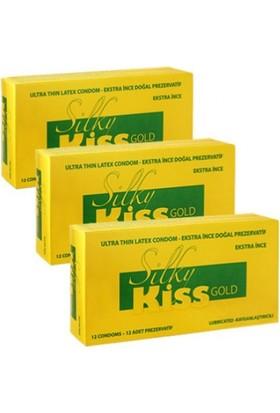 Silky Kiss Prezervatif Gold Ekstra İnce (36 Adet)