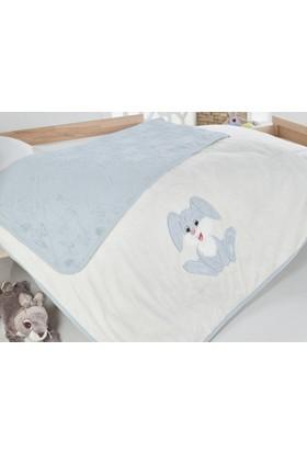 Alla Turca Bambu Bebek Battaniyesi - Mavi Tavşan